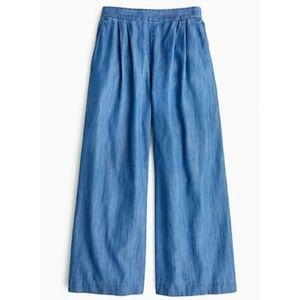 J CREW Wide-leg cropped chambray pant Style H6691